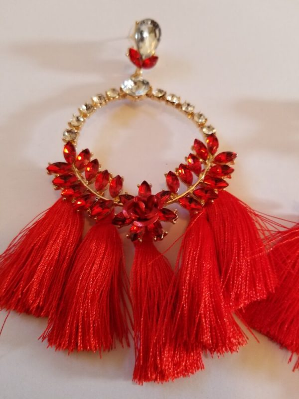 Red Gold Plated Rhinestone