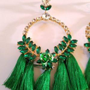 Green Gold Plated Rhinestone