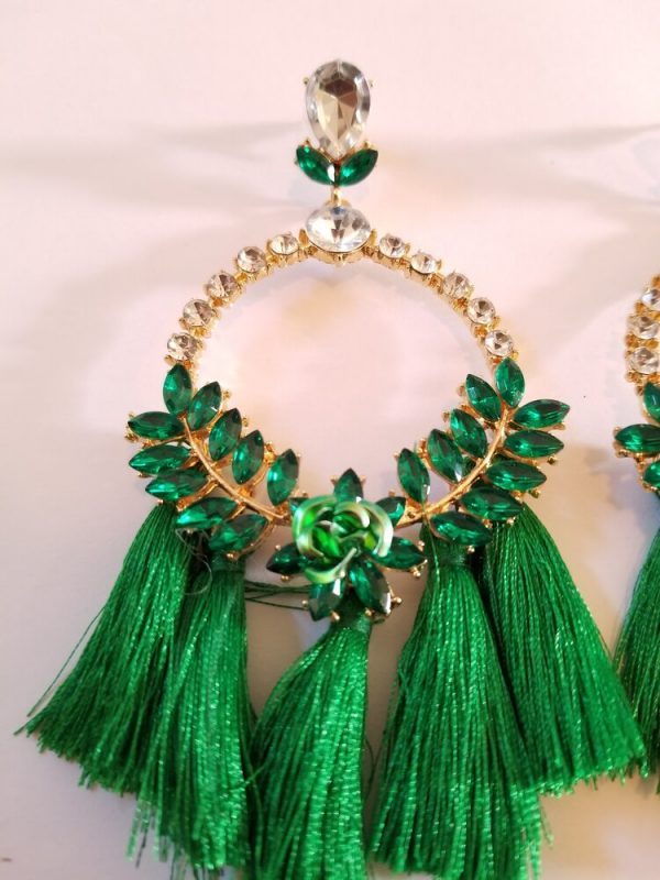 Green Gold Plated Rhinestone