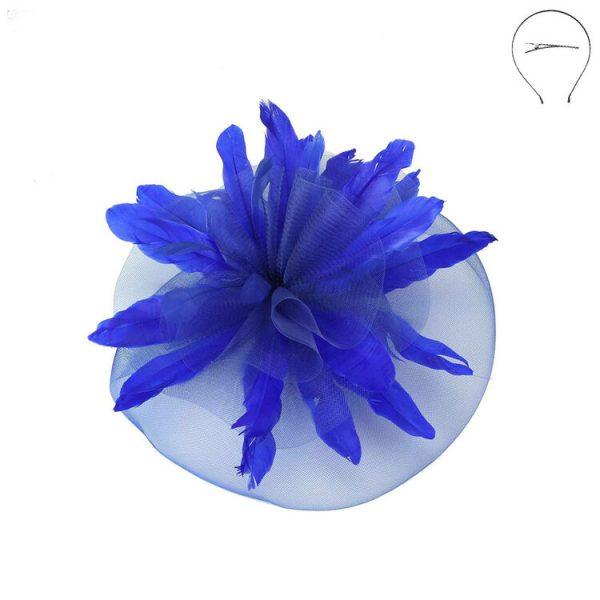 Royal Blue Fascinator Head Band