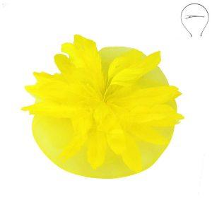 Yellow Derby Fascinator Head Band