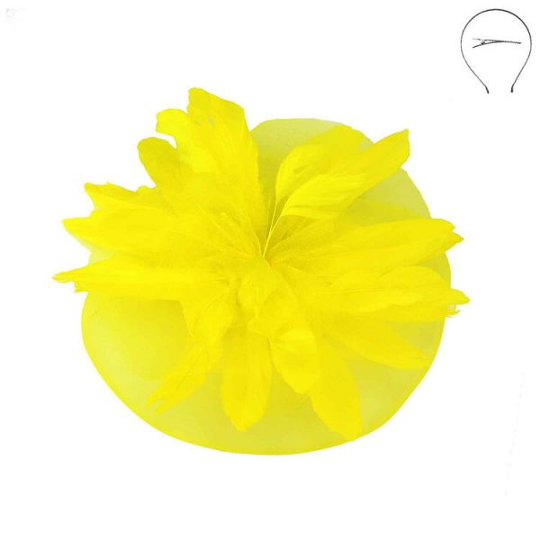 Yellow Derby Fascinator Head Band