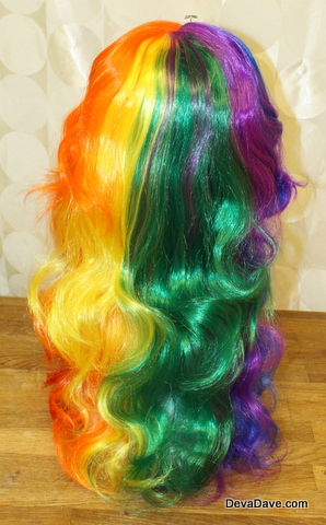Rainbow Wig Kids Size