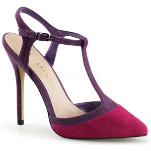 Fuschia Bordeaux Wine Suede