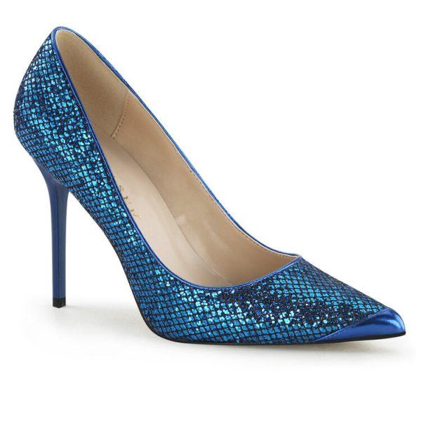 Toe Classic Pump Navy Blue Glitter