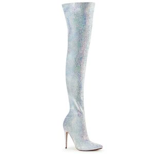 Multi Glitter Thigh High Boots
