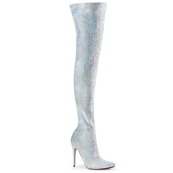 Multi Glitter Thigh High Boots