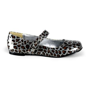 Punk Rockabilly Ballet Flats with Cheetah Print