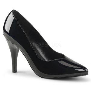 4″ Heel Black Patent Wide Width Shoes
